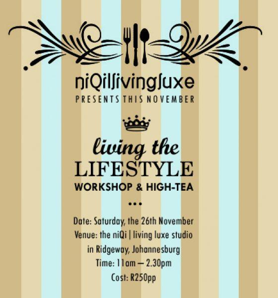 Living the Lifestyle Workshop & High Tea