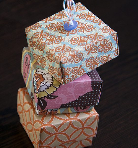 Modified Origami Masu Boxes