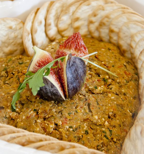 Roasted Aubergine and Feta Mediterranean Dip