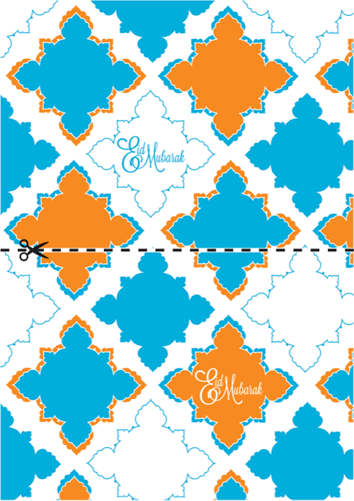 graphic about Eid Cards Printable identified as Eid Printables: Giftwrap and Playing cards Ice Product Day by day