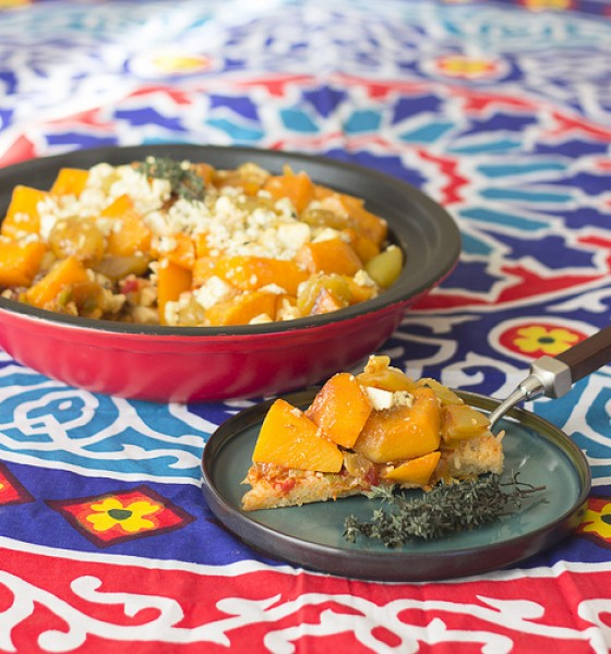 Freshly Blogged Challenge #7: Feta and Butternut Rice Crust Pie
