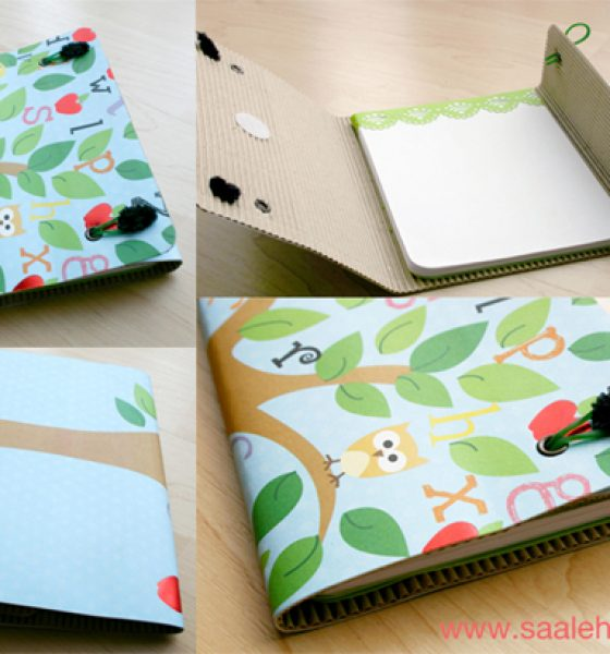 DIY Corrugated Card Notepad Wallet