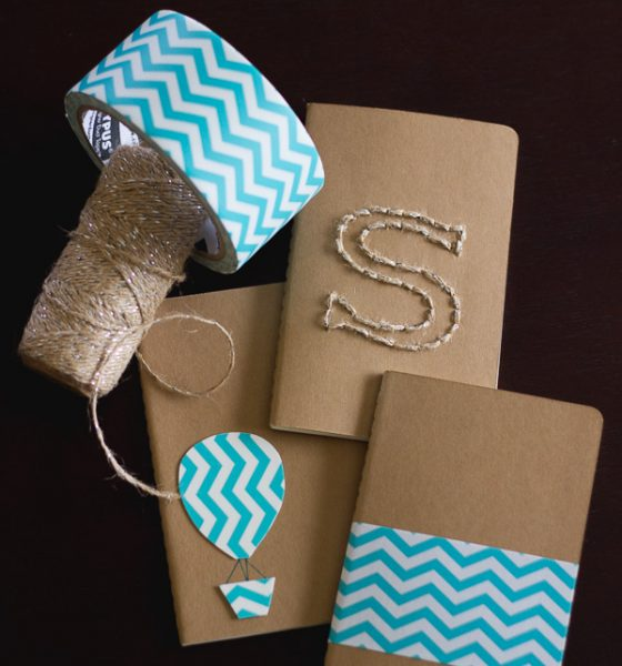 Moleskine Cover Hack: Stitched Twine and Duct Tape