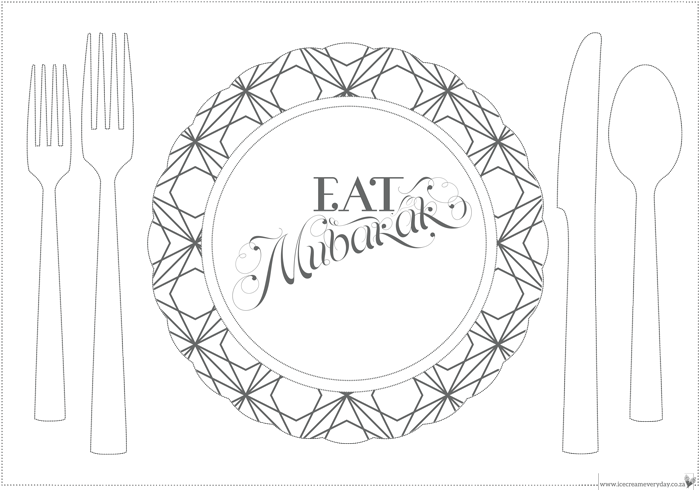 graphic about Printable Placemat Templates named Eid 2015 Bumper Freebie Variation: Printables and Templates