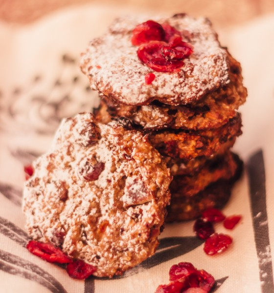 Vegan Cranberry Banana Oat Cookies