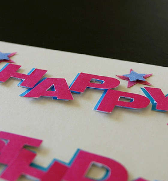 Happy Birthday cutouts card