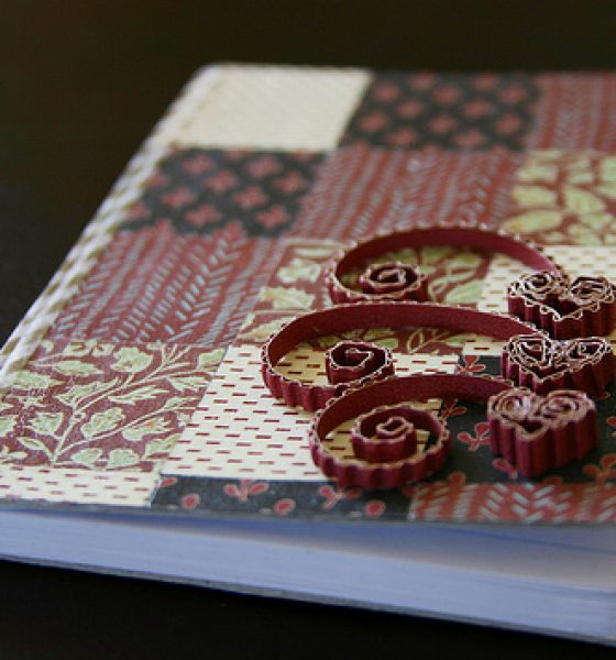 Modged and quilled notebook cover