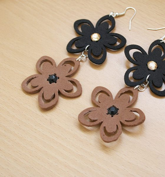 Foam flower earrings