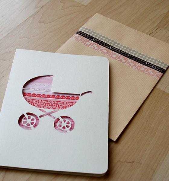 Pram cutout card