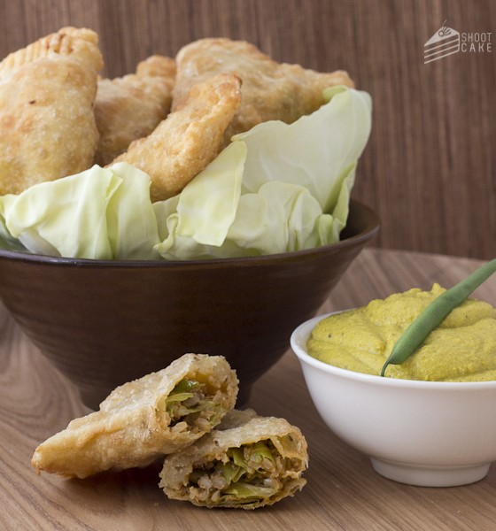 Freshly Blogged Challenge #4: Cabbage and Pilchard Foldovers with Bean and Feta Dip