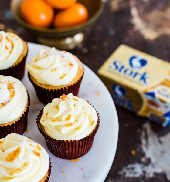 Naartjie and Vanilla Cupcakes for World Baking Day