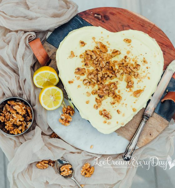 Lemon and Walnut Infused Ice Cream Cake with Stork Bake