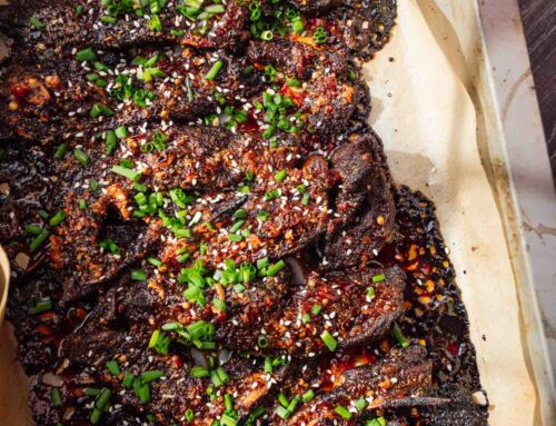 Sticky Spicy Honey Soy Lamb Ribs